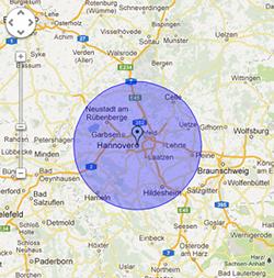 map-Hannover-Schlüsseldienst-List